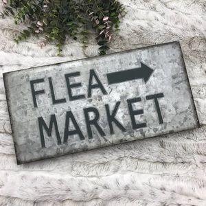 [Ashland] Galvanized Metal Flea Market Sign Rustic